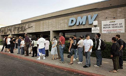 The california dmv experience datacenter dude for Department of motor vehicle services