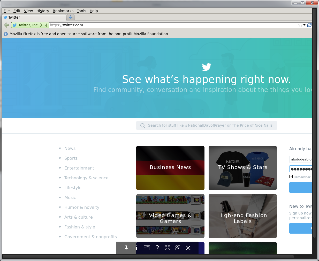 Using Docker to Run Twitter in a Firefox Container